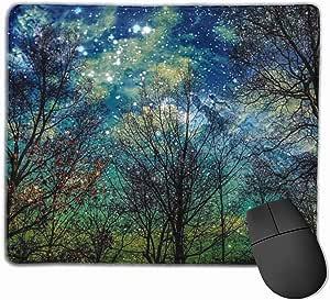 Mouse pad com borda costurada, mouse pad místico celestial