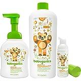 Babyganics 泡沫洗手液 带补充瓶 & 便携套装 橘色