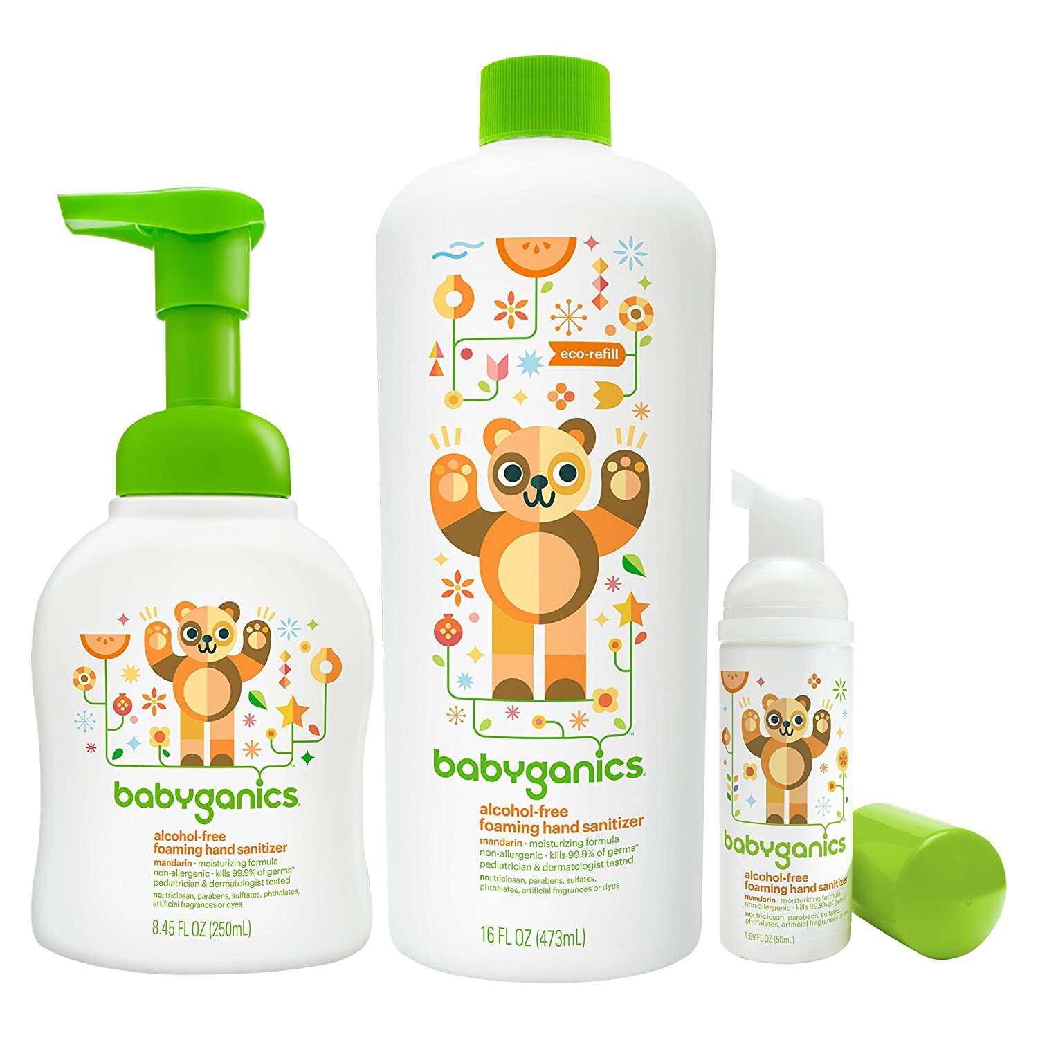 Buy Babyganics Foam Hand Sanitizer With Refill Bottle On The Go