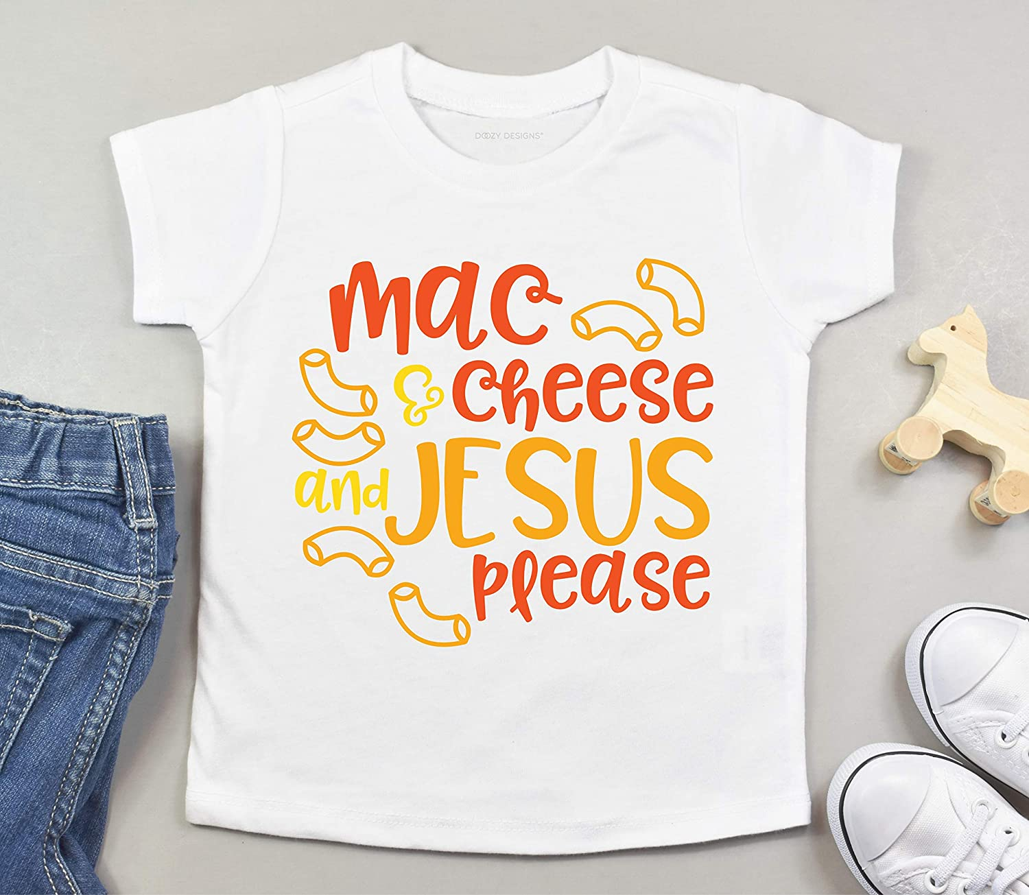 Baby Boy Baby Shower Gifts Jesus Baby Clothes Neutral Baby Clothes Mac and Cheese Shirt Funny Baby Gifts Baby Girl