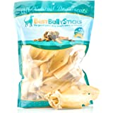 Prime Thick-Cut Cow Ear Dog Chews by Best Bully Sticks (12 Pack) Sourced From All Natural, Free Range Grass Fed Cattle with No Hormones, Additives or Chemicals - Hand-Inspected and USDA/FDA Approved