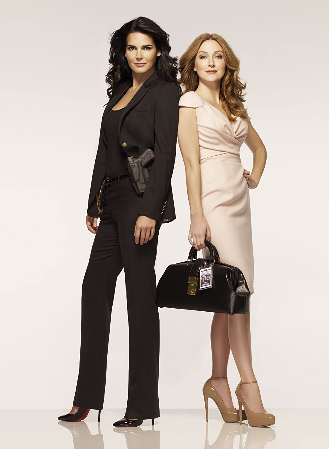 Angie Harmon and Sasha Alexander promo shot 8 inch by 10 inch PHOTOGRAPH TL