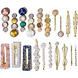 20 Pcs Macaron Hair Clips for Women Acrylic Pearl Hair Clip Handmade Pearl Hair Pins Christmas Gifts for Girls Hair Barettes