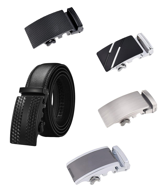 QISHIYUHUA Hombres Cinturón de Cuero Correa Cinturones de Piel Diseñado  para caballero Outlet f0d13c8320d7