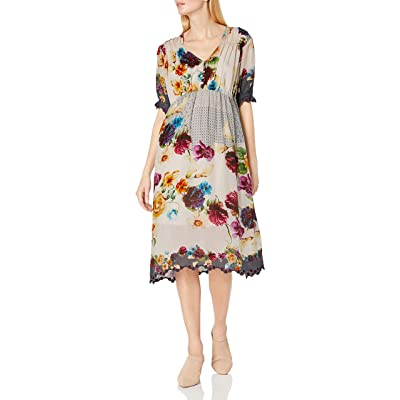 Johnny Was Women's Floral Printed Midi Dress at Women's Clothing store