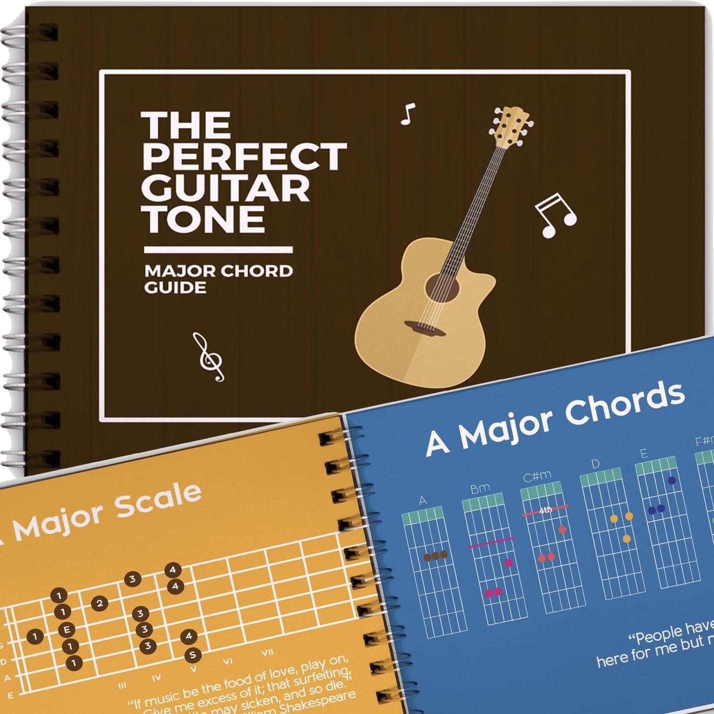 Libro con Todos los Acordes Mayores para Guitarra, Acordes Basicos y Escalas para Principiantes, Aprende a Tocar las Notas en la Guitarra: Amazon.es: Oficina y papelería