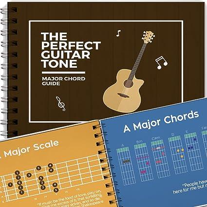 Libro con Todos los Acordes Mayores para Guitarra, Acordes Basicos y Escalas para Principiantes,