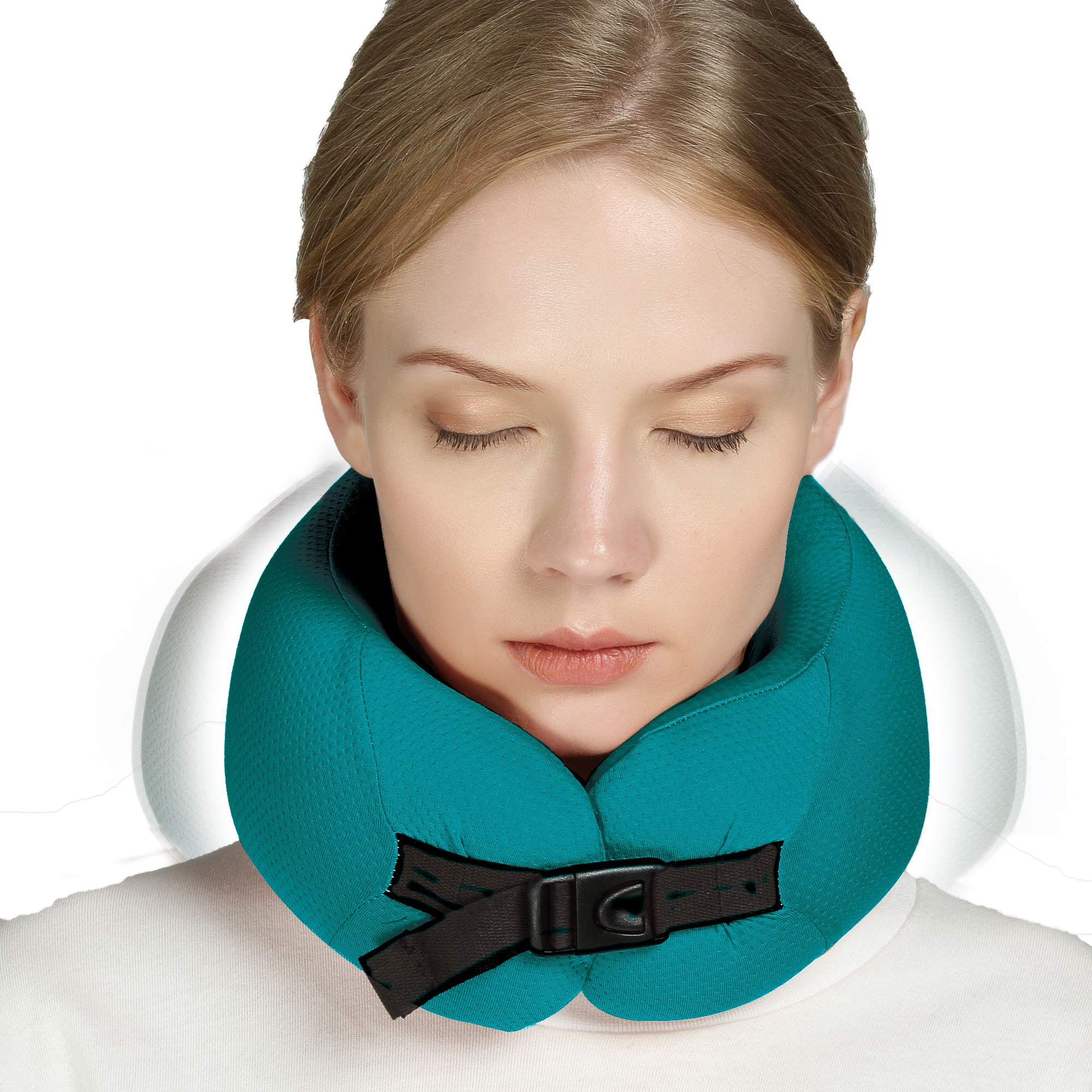 smartrip EcoErgo Small Enough Half Dimension Chin and Cheeks Supporting Adjustable Pillow Size Wicking Fabric Memory Foam Travel Pillow A Sleep-Enhancing Color Washable