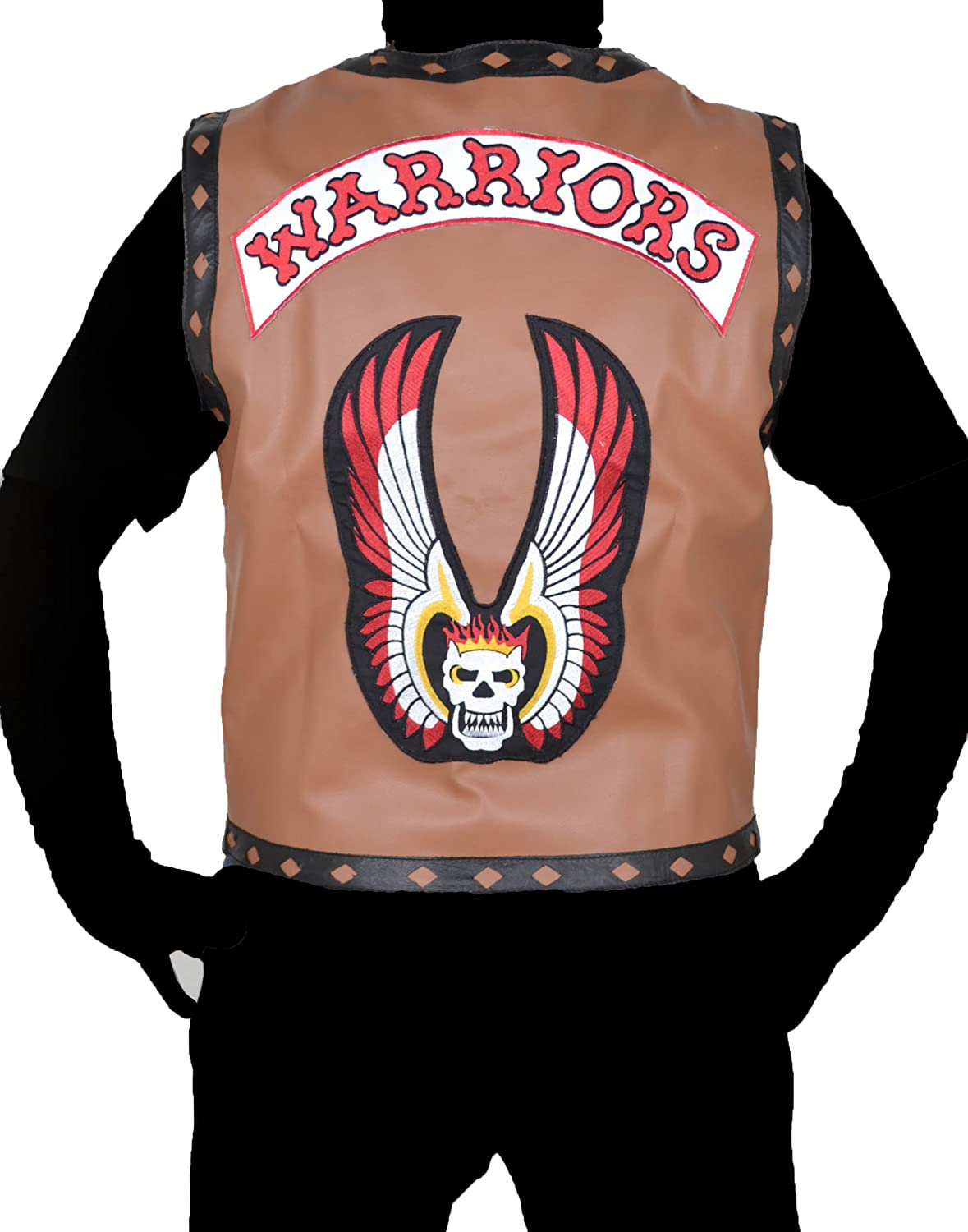 The Warriors Swan Ajax NY gangstar Brown Faux Leather Vest