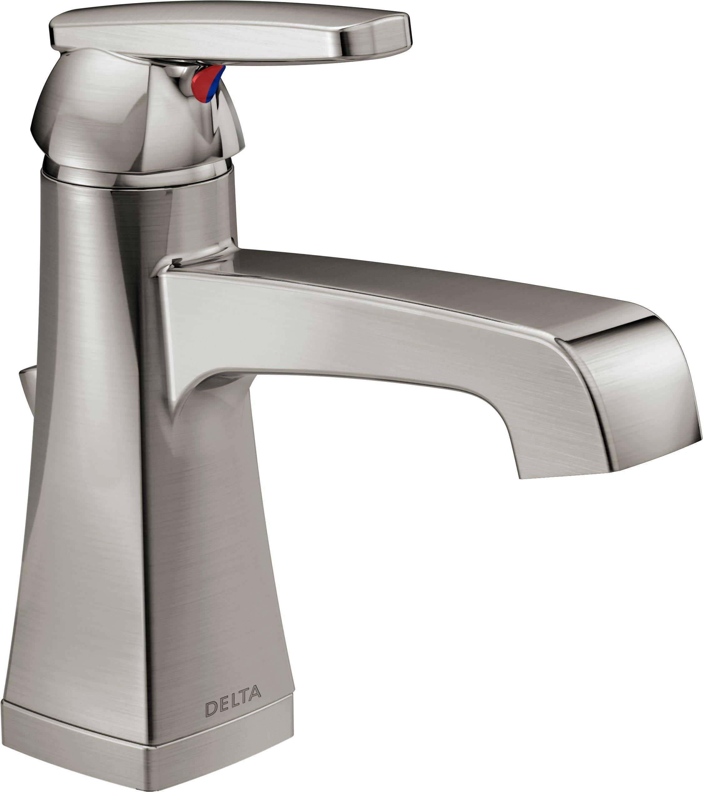 Delta Faucet 564-SSMPU-DST Ashlyn Single Handle Centerset Bathroom Faucet, Stainless