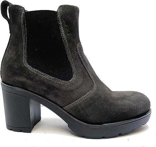 NERO GIARDINI Stivali da donna con tacco in camoscio | Cod