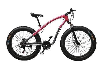 Helliot Bikes Arizona Fat Bike Bicicleta de Montaña, Adultos Unisex, Gris Oscuro/Granate
