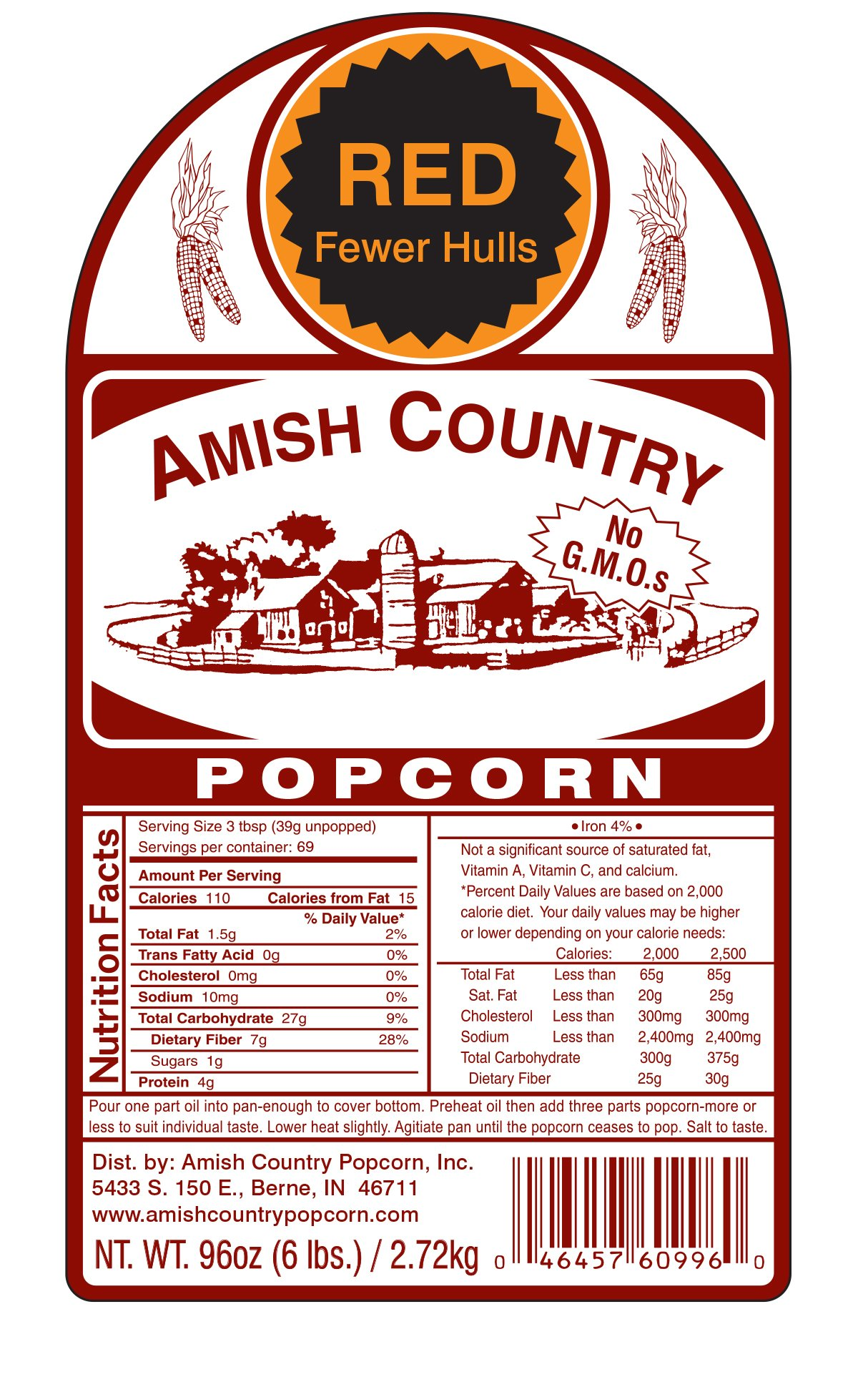 Amish Country Popcorn - Red Popcorn (6 Pound Bag) - Old Fashioned, Non GMO, and Gluten Free - with Recipe Guide by Amish Country Popcorn (Image #8)