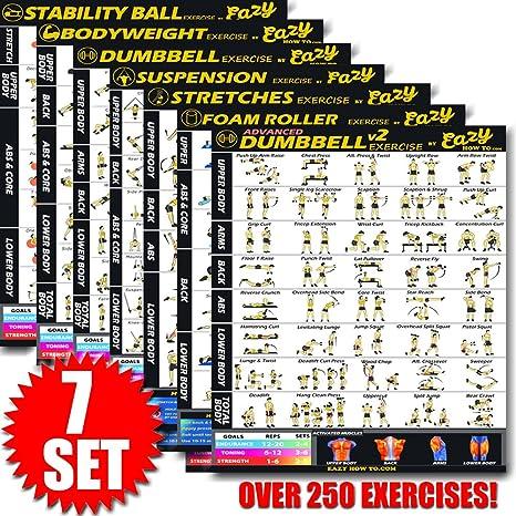 Eazy cómo a Multi Pack Bundle para Jovencita Ejercicio Workout Póster 28 x 20
