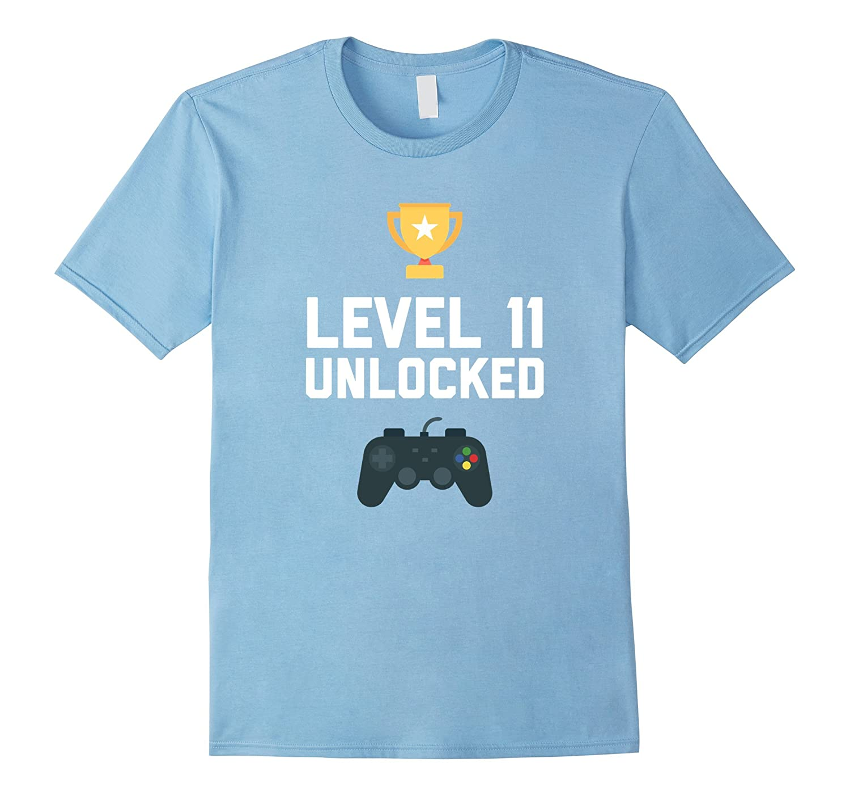 11th Birthday Shirt Gift 11 Year Old Level Up Gamer Tshirt