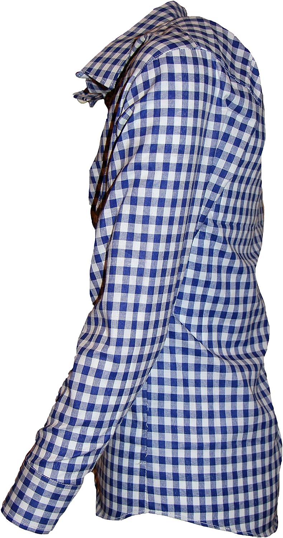 MS-Trachten Camisa Tradicional para niños Camisa a Cuadros roja o Azul