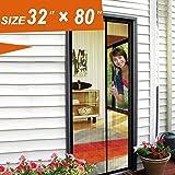 Magnetic Screen Door, Screen Mesh 32 X 80 Fit Doors Size Up To 30u201d