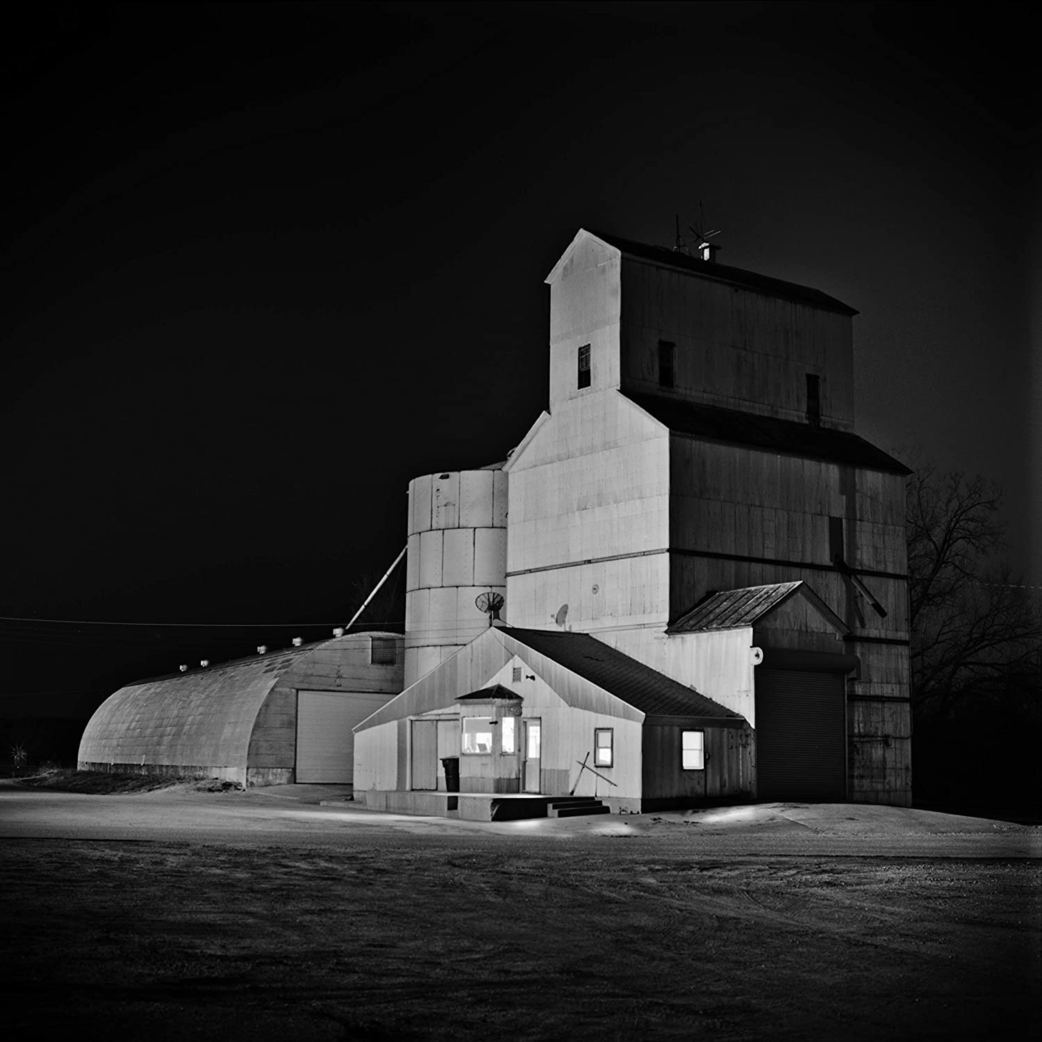 Amazon com black and white photography print roca grain elevator at night black and white night photography handmade