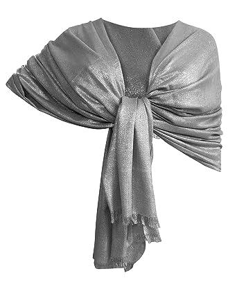 elegante uomo design unico LTP Brillante Elegante Maxi SCIARPA Filo Oro o Argento Scialle Foulard,da  Donna Ragazza Coprispalle Stola Cerimonia 14 Colori