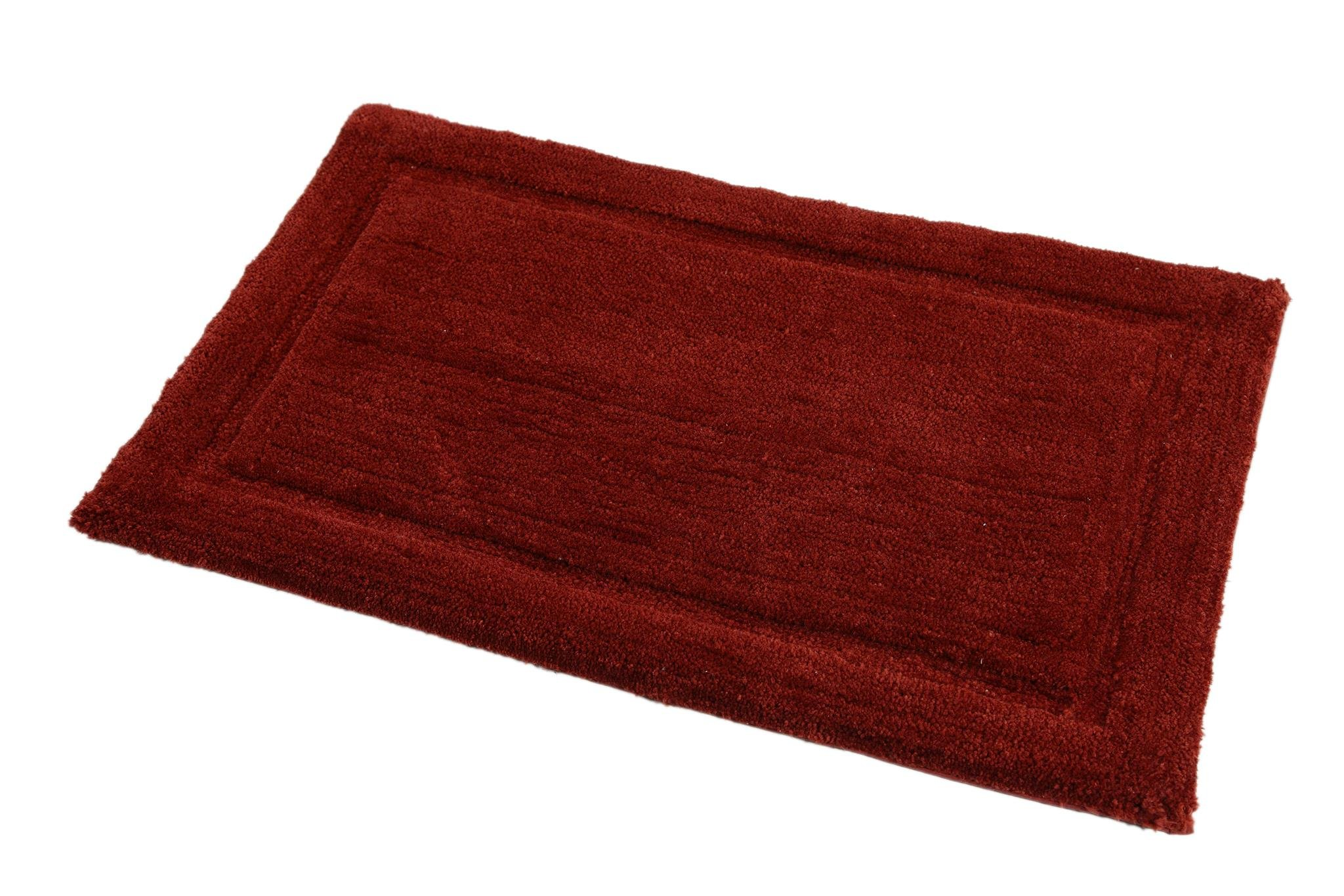 WARISI - Track Collection - Solids microfiber Bathroom, Bedroom Rug, 34 x 21 inches (Marsala) by WARISI (Image #7)