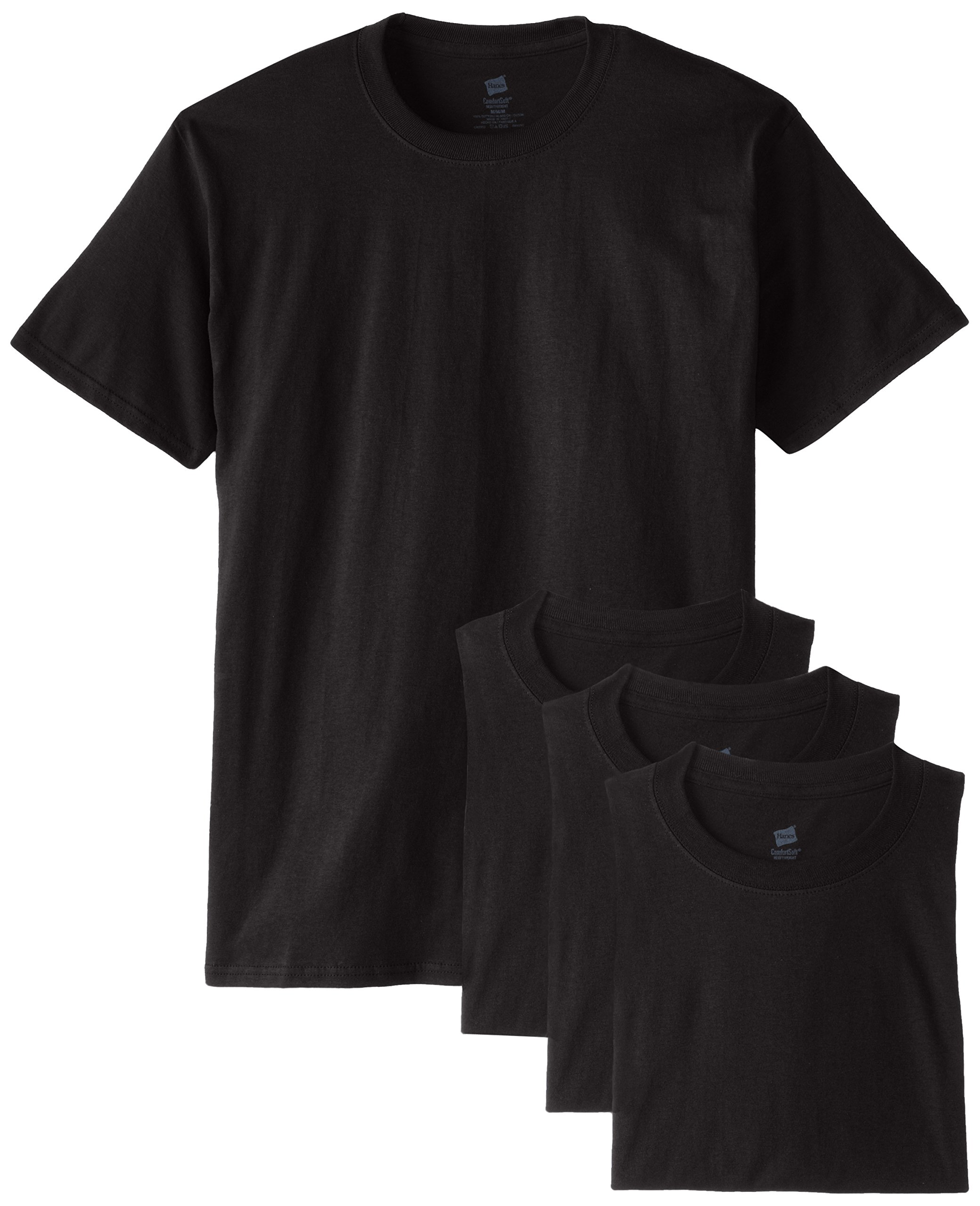 Hanes Men's Comfortsoft T-Shirt (Pack Of 4),Black,3X-Large