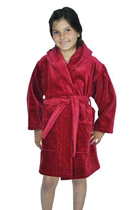 5570eb2dc1 Amazon.com  Soft Touch Linen Girls and Boys Kids Hooded Terry Velour ...