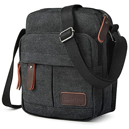 4007011594 Koolertron Vintage Canvas Crossbody Shoulder Tablet Bag Lightweight Small  Satchel Bag for Men   Women (
