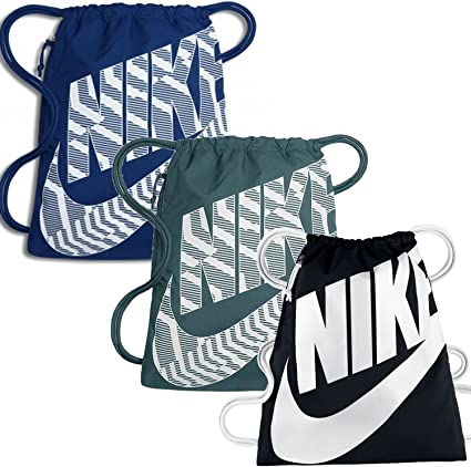 Nike Gymsack Graphic Sports Training Bag Gym Sack Drawstring PE Team Kit Bags
