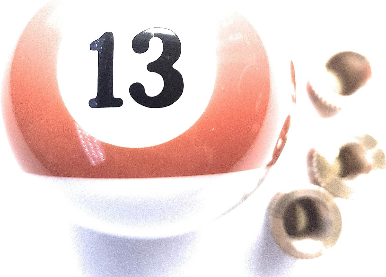 Orange stripe thirteen 13 pool ball gear knob shift stick universal