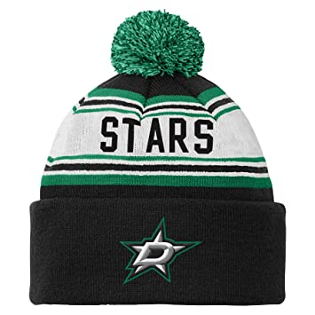 4139b48c1cc ... promo code for nhl dallas stars youth 8 20 cuffed knit pom hat one size  black