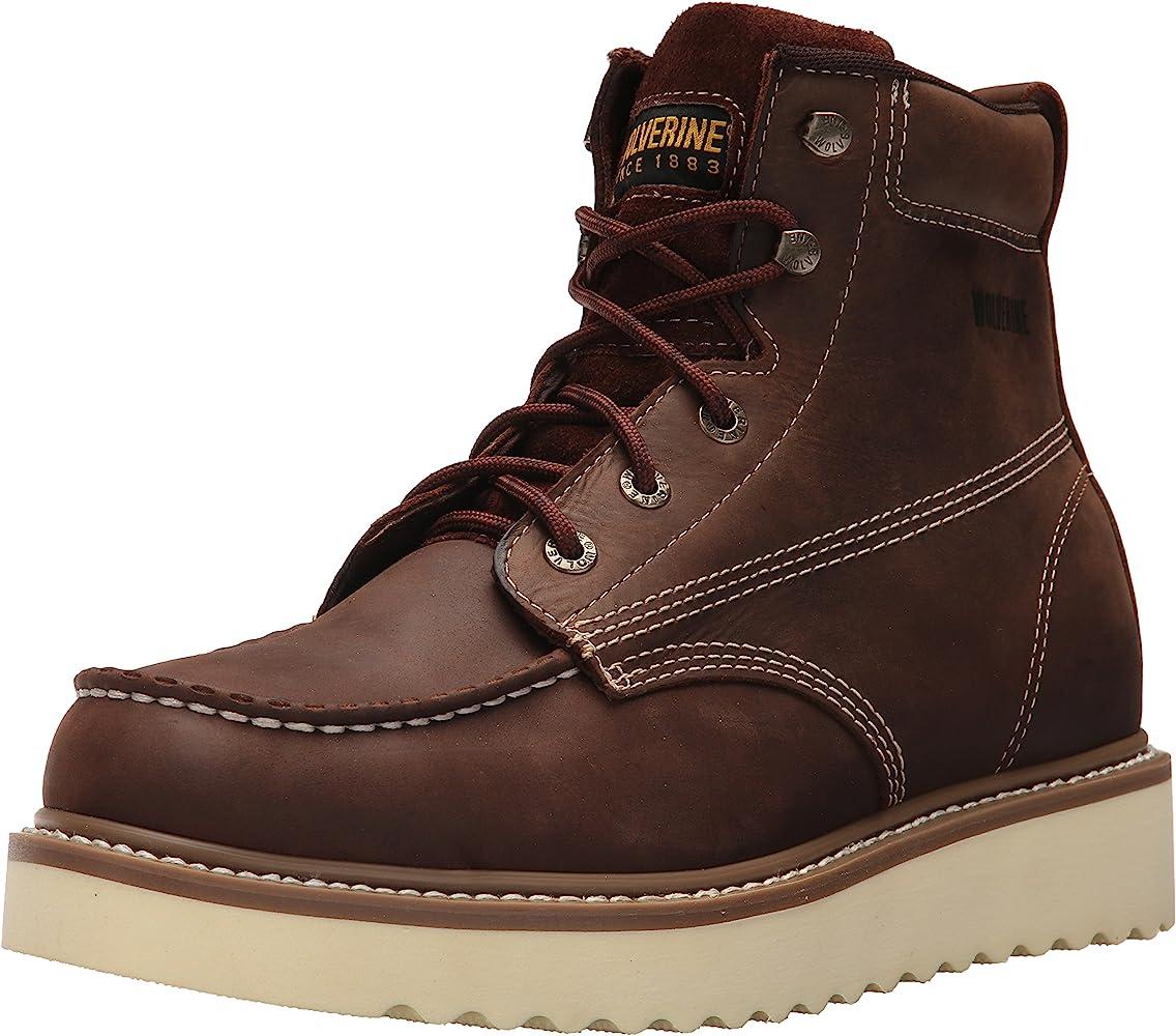 Loader Soft Toe Wedge Work Boot, Brown