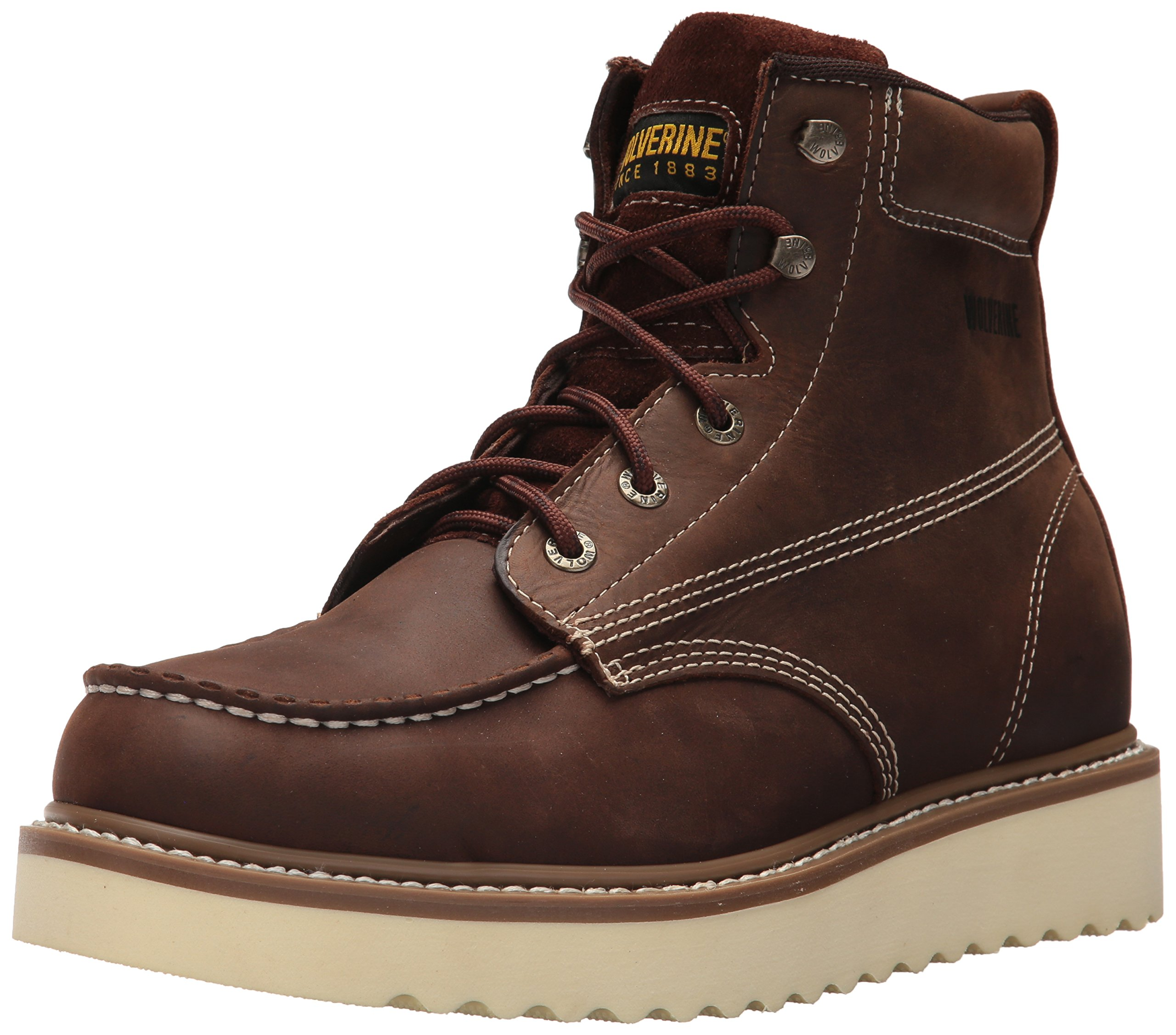 Wolverine Men's Loader 6'' Soft Toe Wedge Work Boot, Brown, 10.5 M US