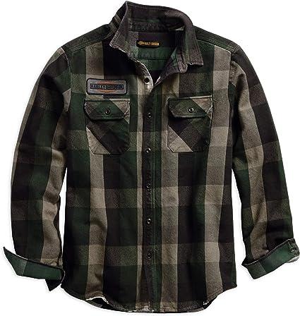 Harley-Davidson Official Men/'S Hdmc #1 Slim Fit Plaid Shirt Plaid