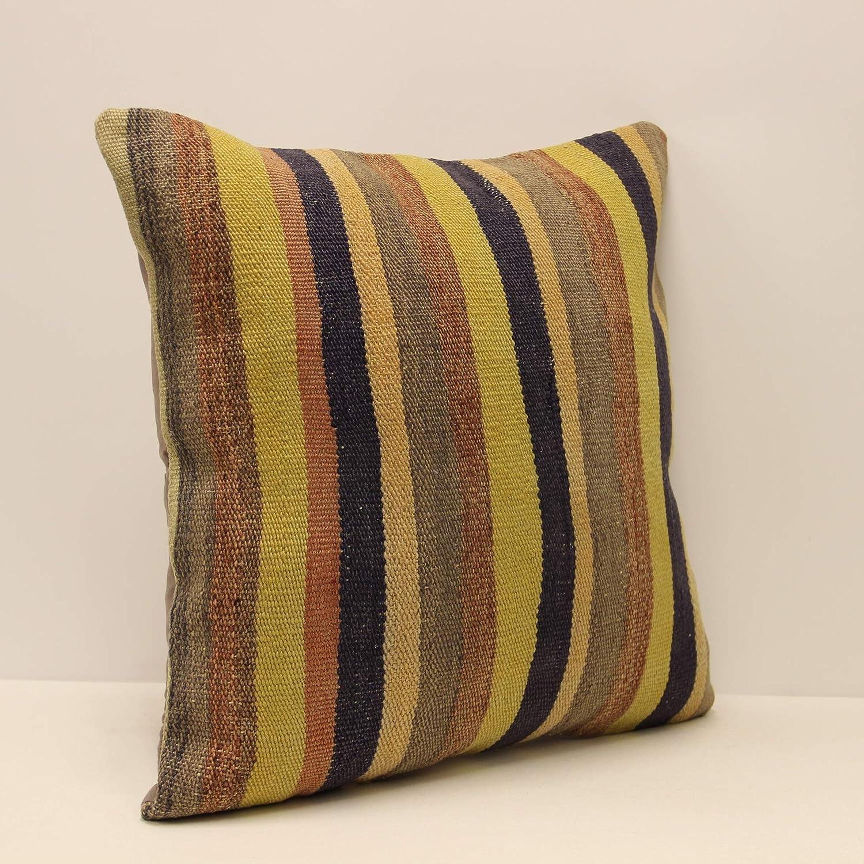 Decorative Pillow Turkish Pillow Vintage Pillow Kilim Cushion Kilim Pillow Throw Pillow Accent Boho Pillow 20x20 in Sofa Pillow
