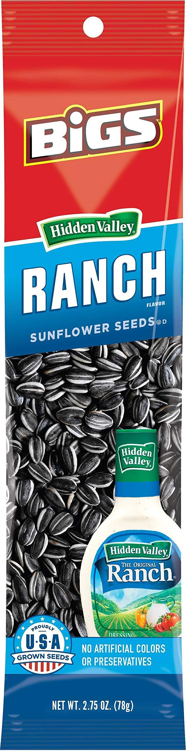 Bigs Hidden Valley Ranch Sunflower Seeds, 2.75 Ounce - 72 per case.