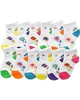 Angelina Dozen-Pack COTTON Low Cut Socks, #2305_3BF2_1-3