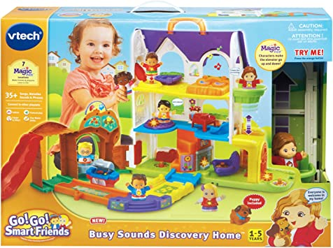 NEW VTECH Go Go Smart Friends Busy Sounds Discovery Home TOYS R US Toy BIG BOX!
