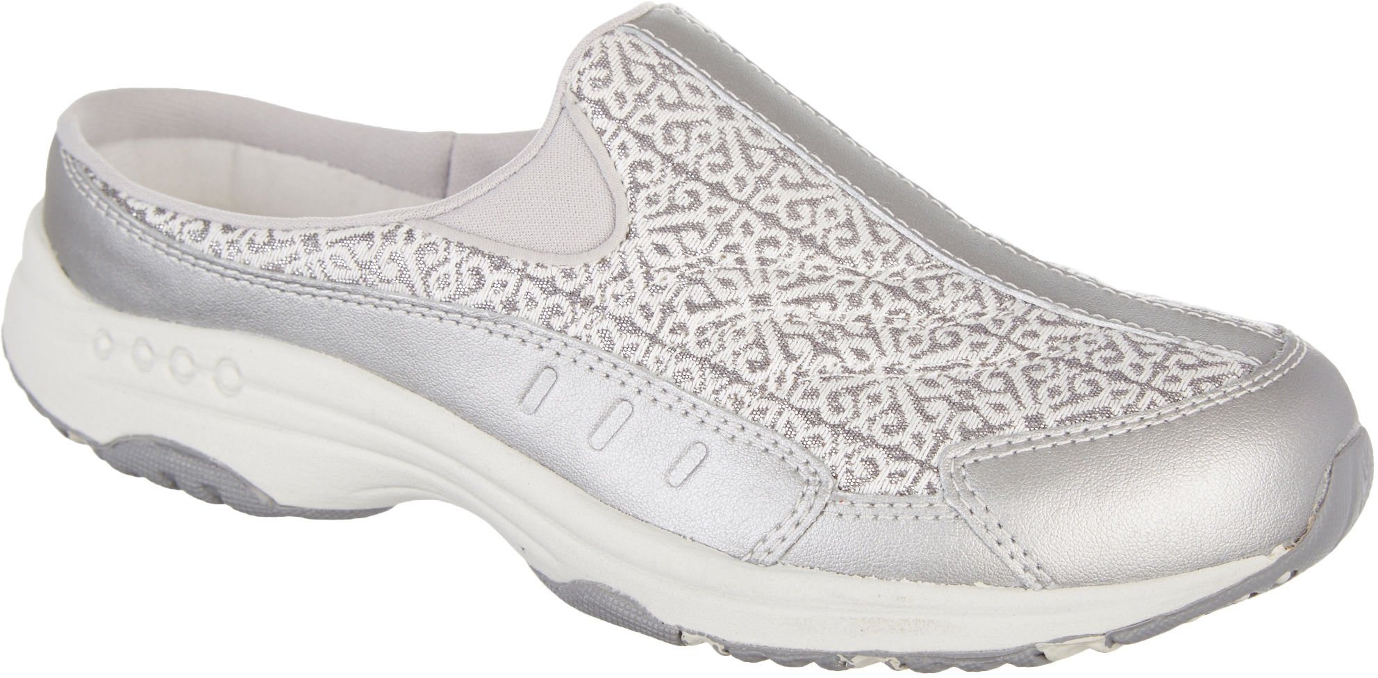 Easy Spirit Women's TRAVELTIME218 Mule, Silver, 8.5 W US