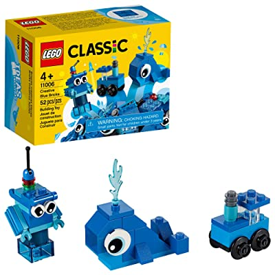 LEGO Classic Creative Blue Bricks 11006 Kids' Building Toy Starter Set with Blue Bricks to Inspire Imaginative Play, New 2020 (52 Pieces): Toys & Games