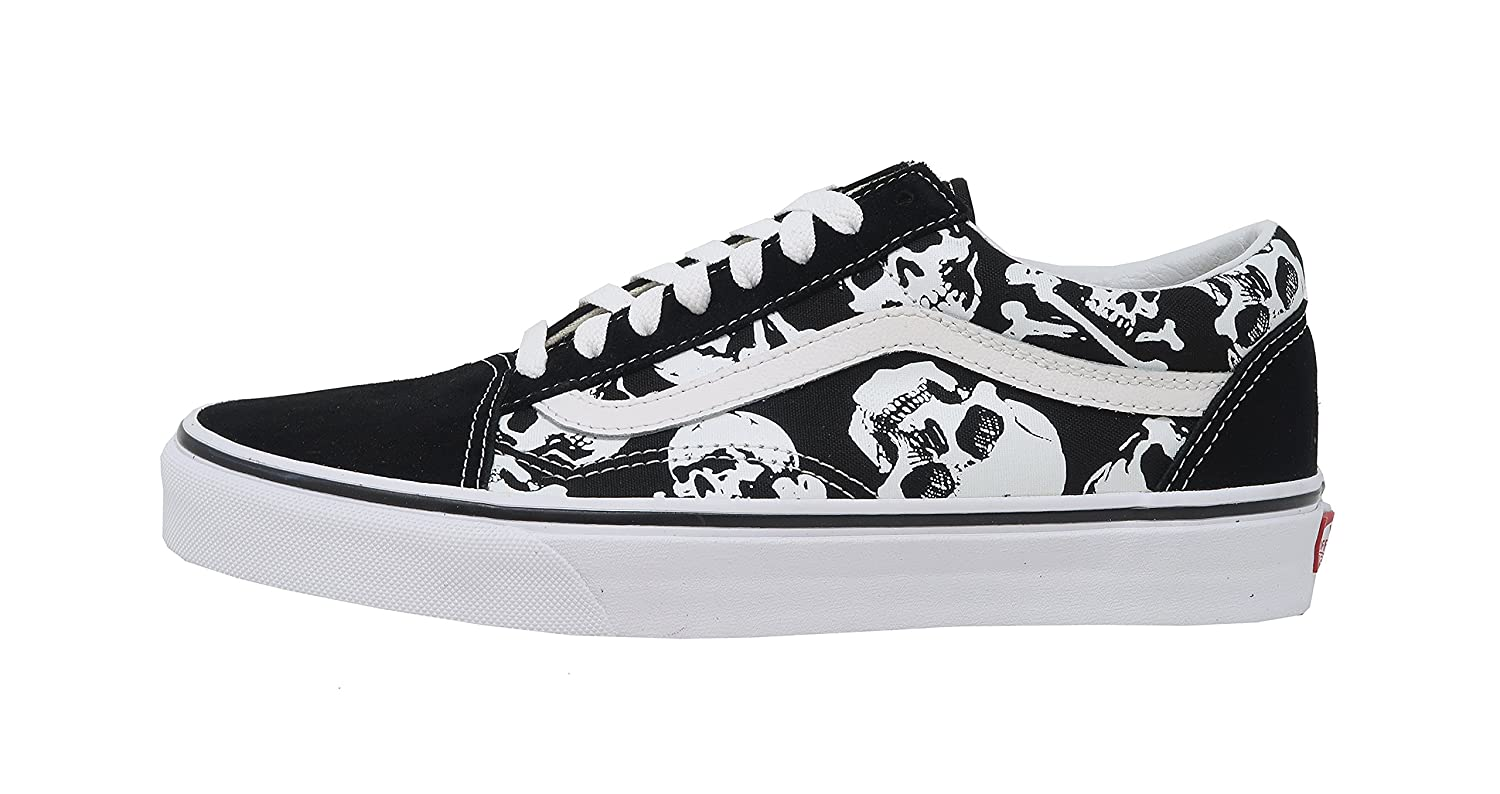Vans Skulls Old Skool Unisex Mens Skateboarding-Shoes VN-0A3 B078Y7PMBW 11.5 M US Women / 10 M US Men|Black/White