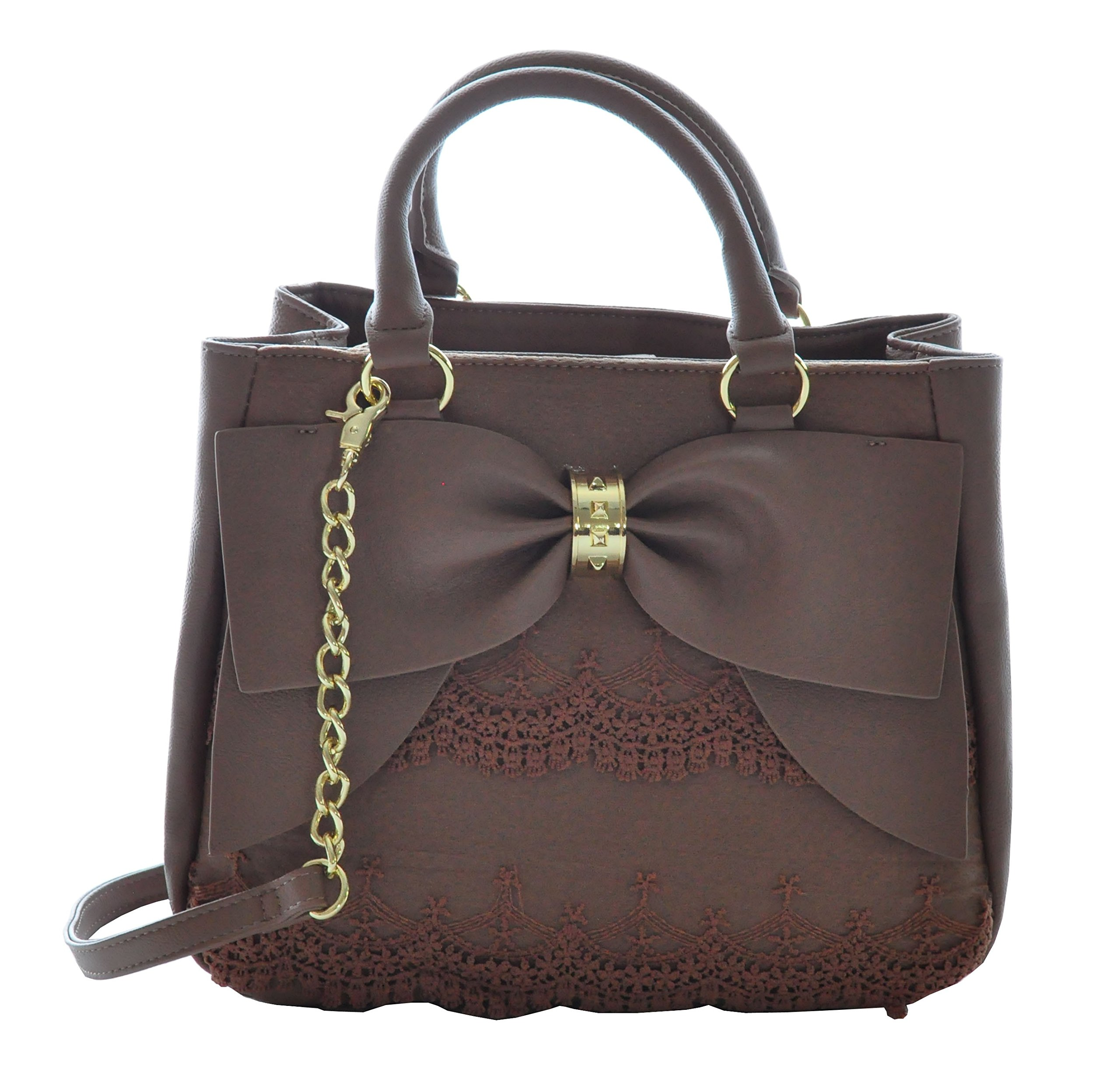 Betsey Johnson Bow on Bucket Satchel Bag, Spice