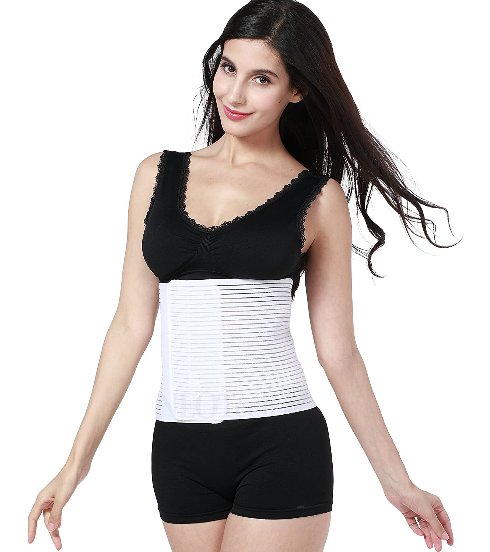 fascia elastica traspirante nero pancia piatta cintura//corsetto maternit/à L Fascia contenitiva post parto Neotech Care