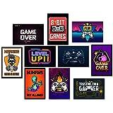 Kit 10 Placas Decorativas Mdf Quadros Geek Nerd Gamer Jogos Vídeo Games PC Quarto Corredor 30x20cm