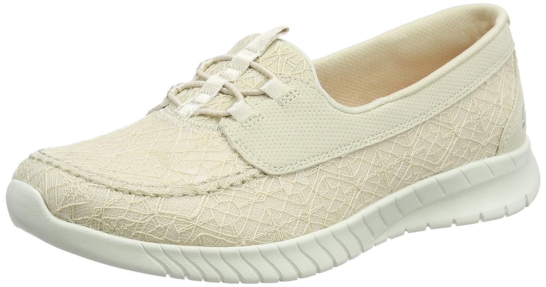 Skechers Wave-Lite-Keep It Simple, Zapatillas para Mujer 39 EU|Beige (Natural)