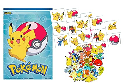 Amazon.com: Pikachu Party Favor Goody Bolsas con Bonus ...
