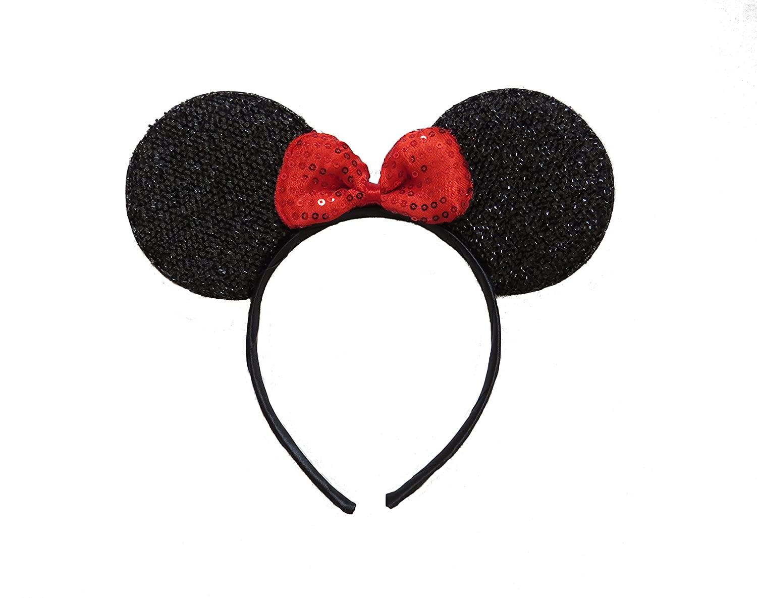 FANCY DRESS MINNIE MICKEY MOUSE EARS HEAD BAND ALICE WITH BOW PARTY HEN BLACK