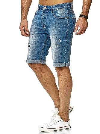 Neuestes Design Schuhwerk neues Konzept Redbridge Herren Denim Shorts Basic Destroyed Jeansshort Kurze Hose  Freizeit Jeans