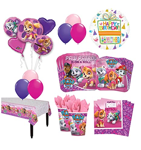 The Ultimate 16 Guest 94pc Paw Patrol Girls Skye And Everest Birthday Party Supplies Balloon