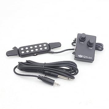 WINGONEER Receptor de Sonido de 12 Agujeros Acústico / Eléctrico Transductor Micrófono Alambre Amplificador Altavoz para