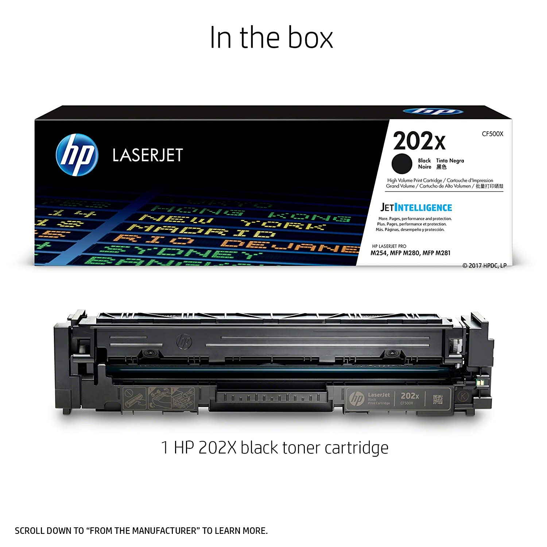 HP 202X Black LaserJet Toner Cartridge